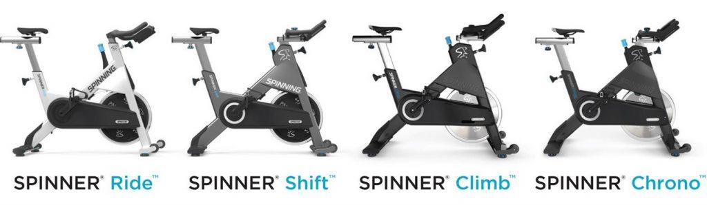 2019 familia de Spinner® Bike pensadas según las exigencias de entrenamiento y objetivos de los Centros Oficiales de SPINNING®  fabricadas por PRECOR USA.  TECNOSPORTS® Distribuye en Venezuela, Caribe y Perú