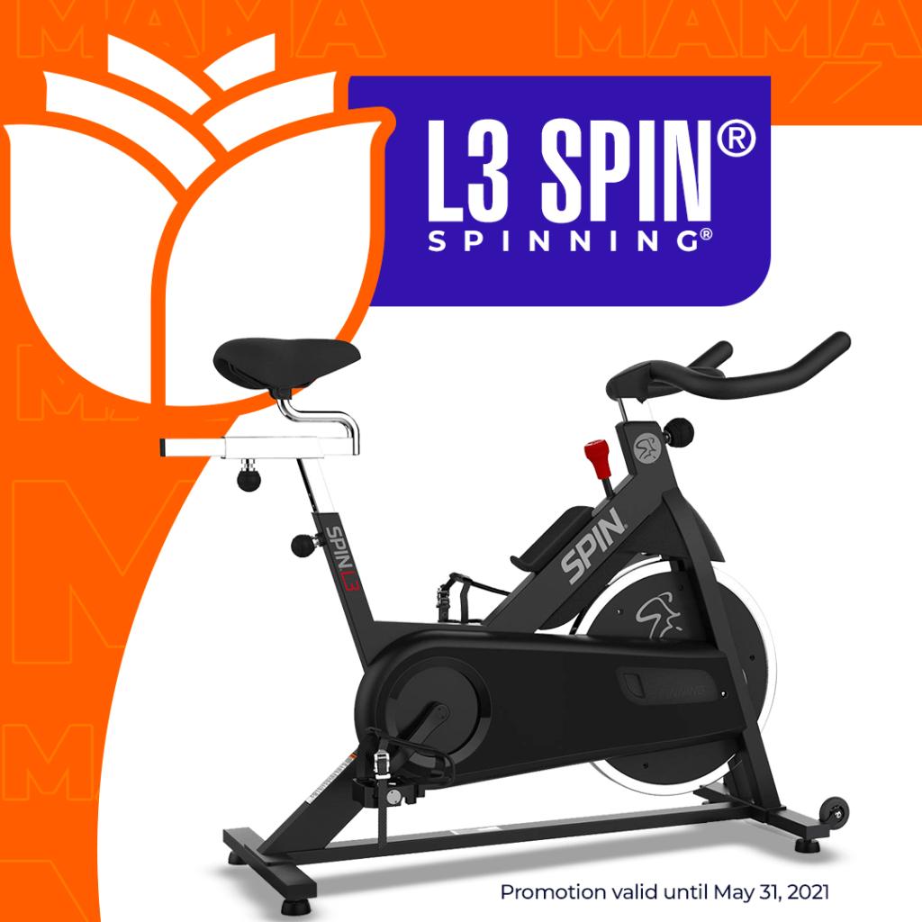 Llévate la L3 SPIN® SPINNING® (Uso Hogar) por $1.099 ¡GRATIS! Un mes de Clases On-Line en vivo con Instructores Certificados con #tecnosports Distribuidor Oficial de Bicicletas Original de SPINNING®