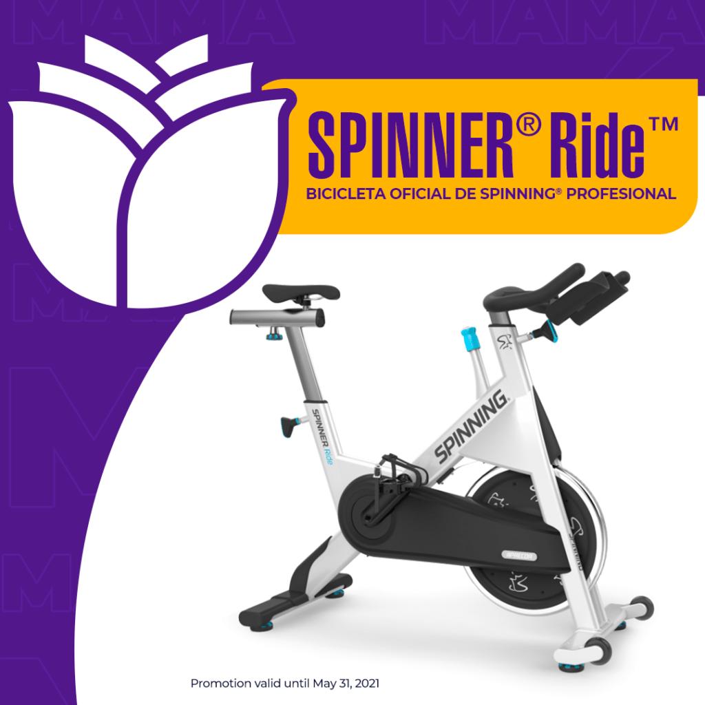 Llévate la Spinner® Ride™ SPINNING® (Uso de Atletas y Gimnasios) por $1.900 ¡GRATIS! Un mes de Clases On-Line en vivo con Instructores Certificados.
