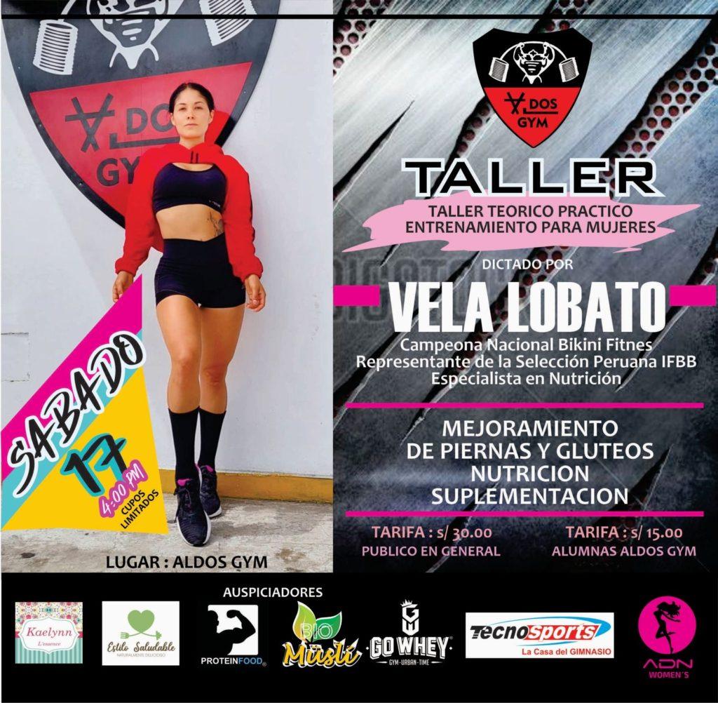 Taller de Mejoramiento de piernas y glúteos- Vela Lobato.