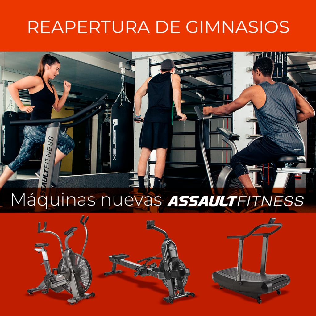Reapertura y Reactivación de Gimnasios con Maquinas de Assault Fitness nuevas